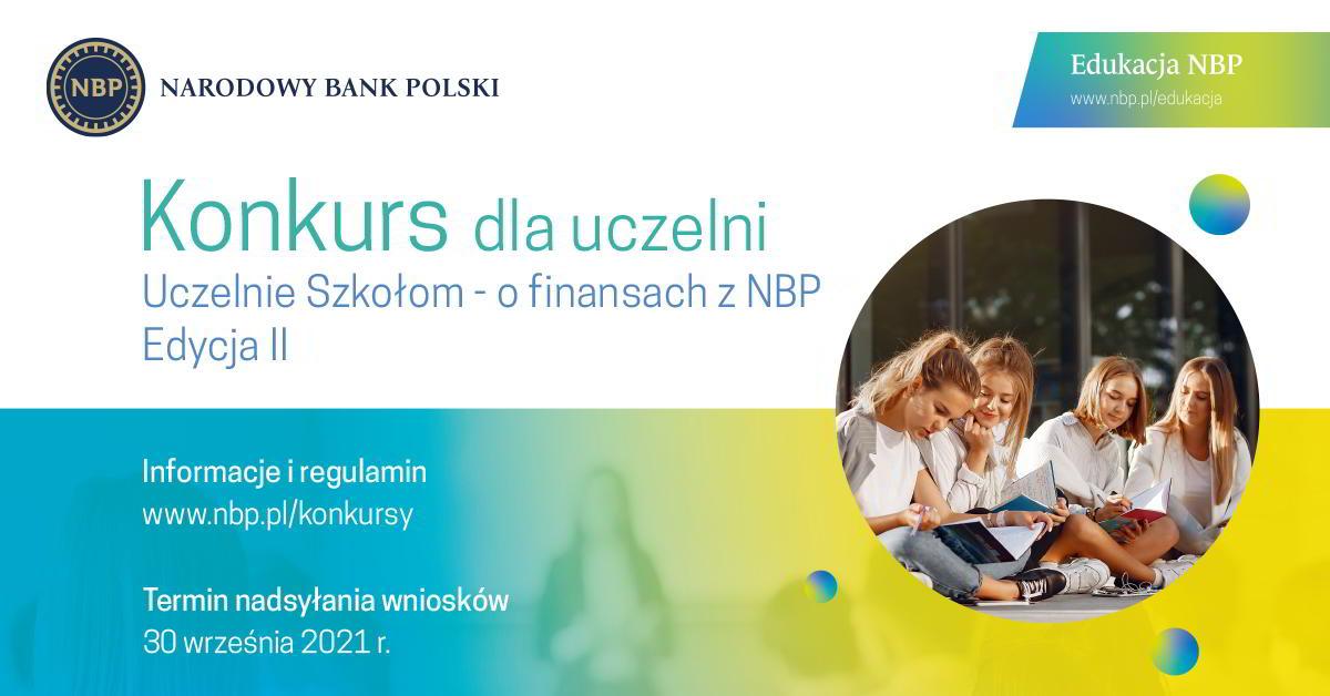 Konkurs dla uczelni: Uczelnie Szkołom – o finansach z NBP. Edycja II